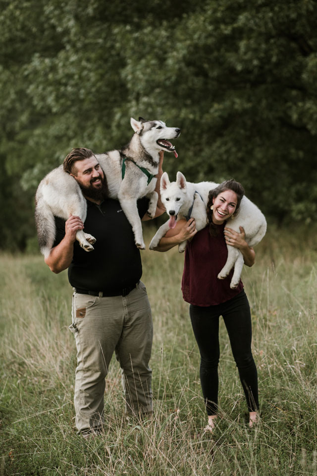 Annie And Matt With Dogs2